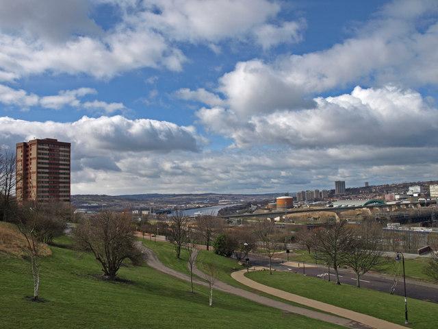 View from Windmill Hills Town Park, Gateshead
