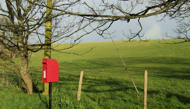 Postbox at Tarrning Neville, East Sussex