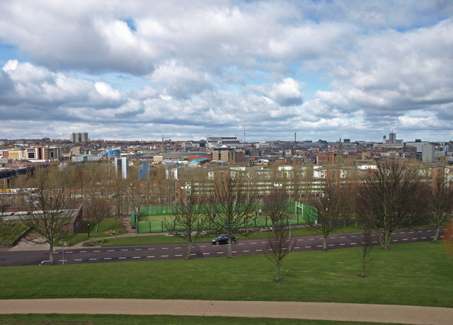 View from Windmill Hills Town Park, Gateshead
