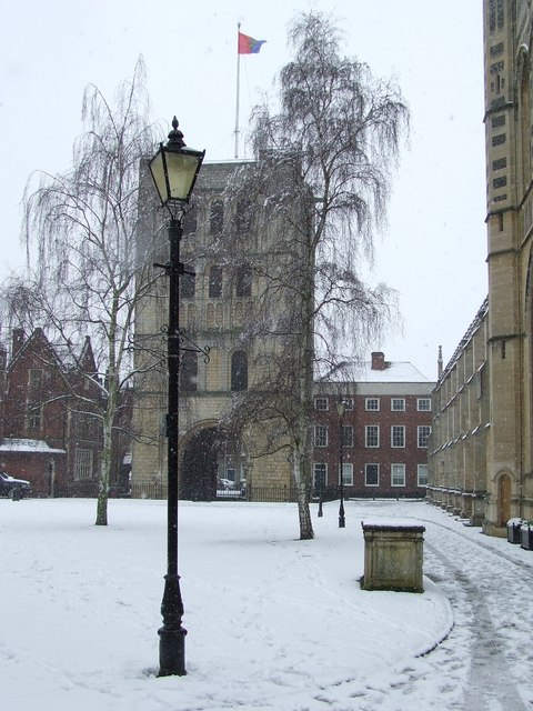 Norman Tower in the snow