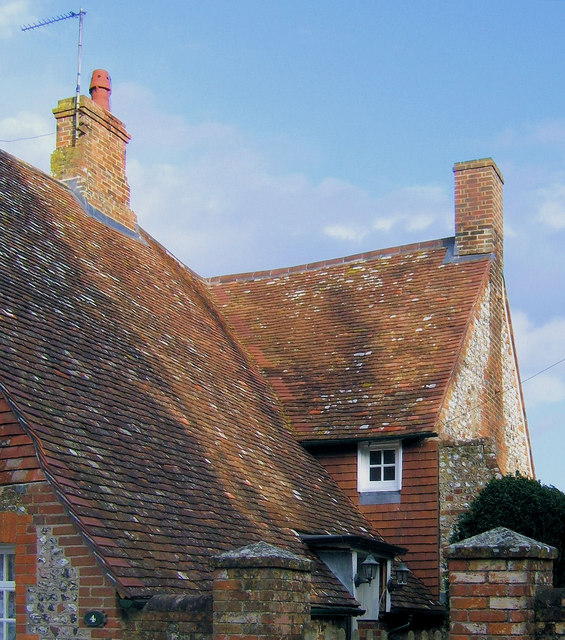 Roofscape at West Firle, East Sussex