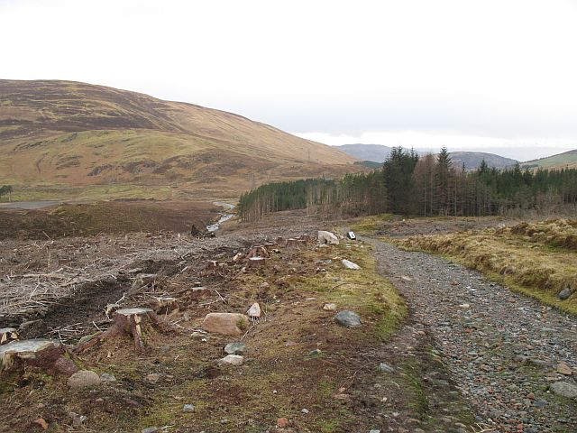 The Military Road passing Clach nan Caimbeulach