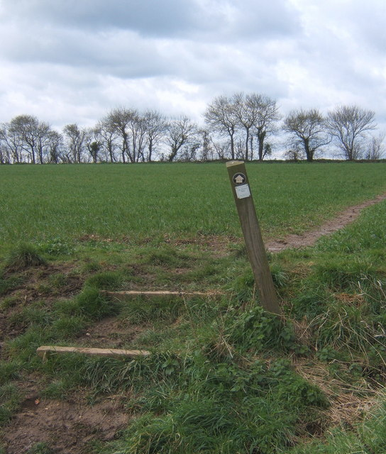 Footpath from West Bergholt towards Fossetts Lane and Fordham