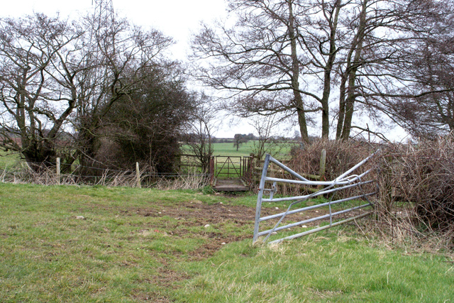 Gate and footbridge