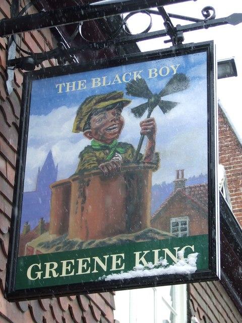 The Black Boy pub sign