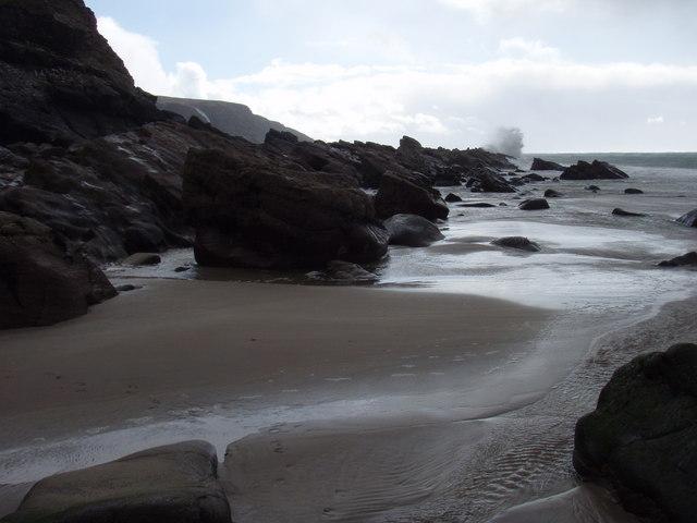 Coastal rocks at Peterburn