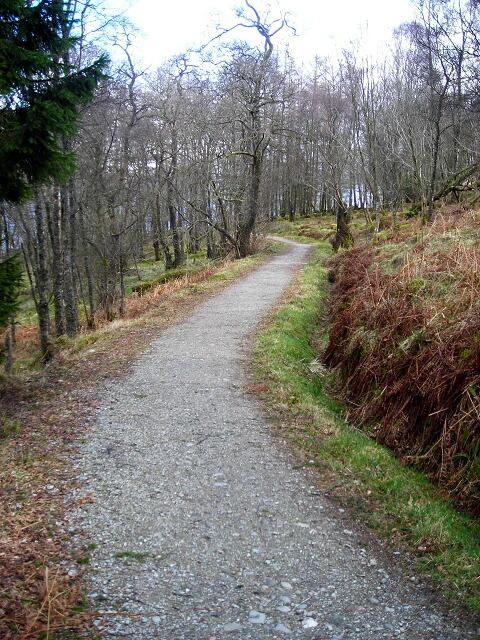 Cycleway beside Loch Venachar