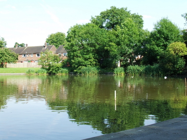 Painswick Park pond.