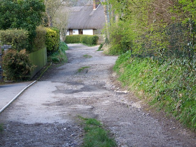 Cottages in Stocksbridge Lane, Coombe Bissett