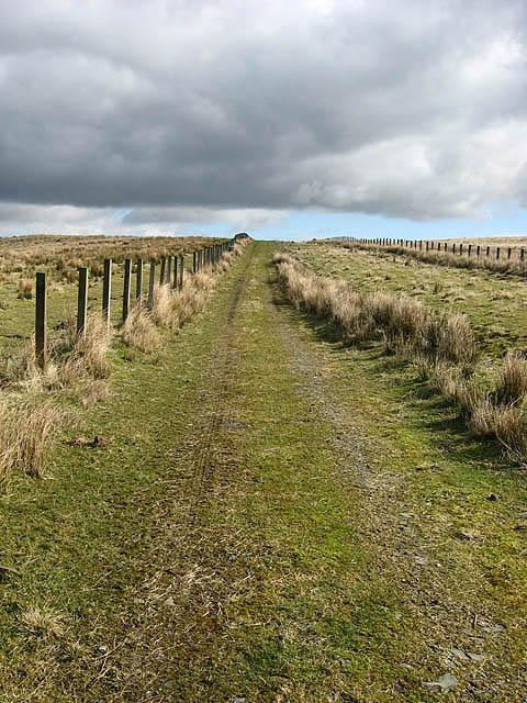 A farm track by Lang Grain Head