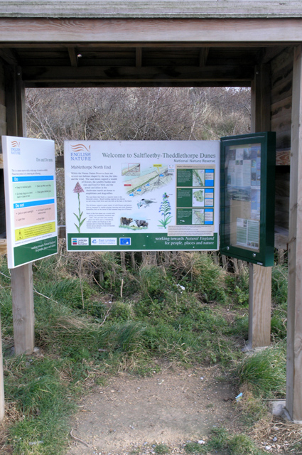 Information Board, Saltfleetby and Theddlethorpe dunes