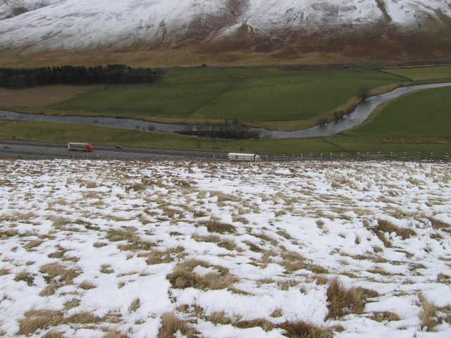White Hill towards A74(M) and River Clyde