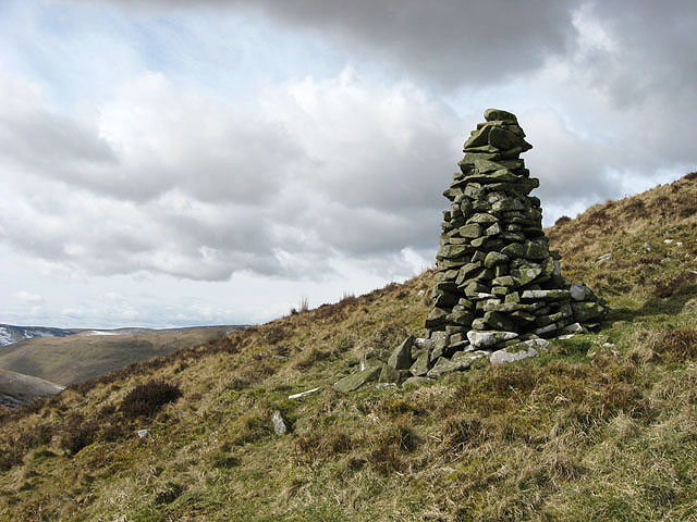A cairn on Wether Law