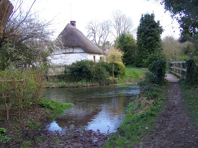 Ford and footbridge, River Ebble