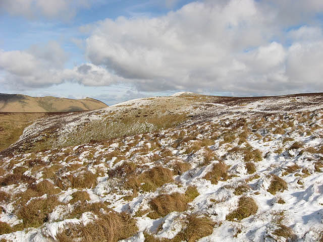 On the west-southwest ridge of Mid Hill