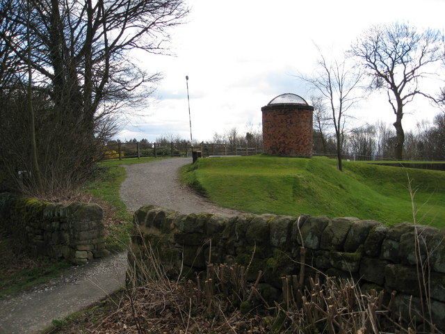 Milford Tunnel Air Shaft - On the edge of the Golf Course
