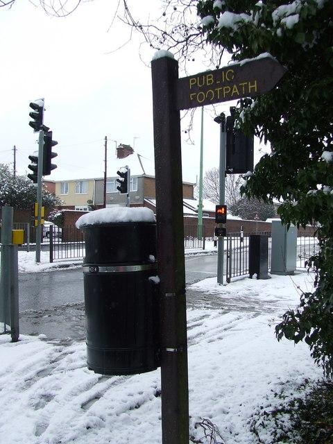 Town footpath