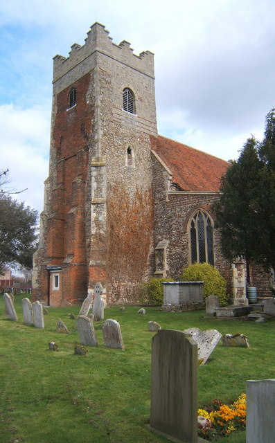 All Saints Church tower and churchyard, Fordham