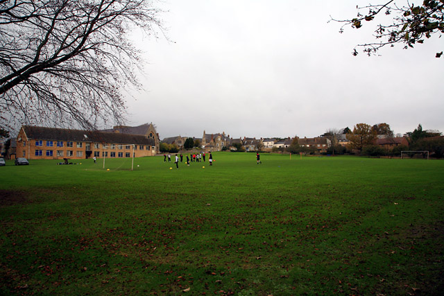 Magdalen College School, Brackley, Northants - the main playing field
