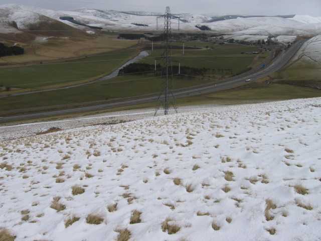 Kirkton Rig towards A74(M) and River Clyde