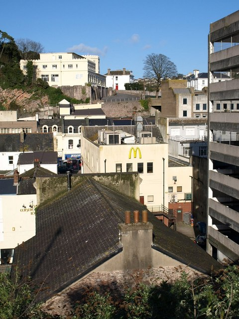 Torquay town centre from Burridge Lane