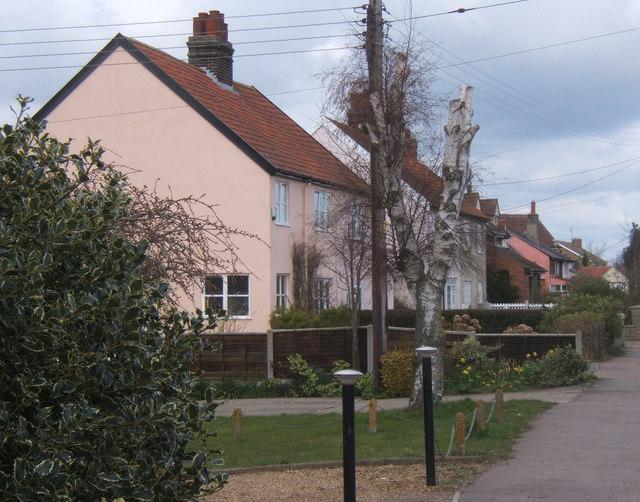 Houses by Church Road, Fordham