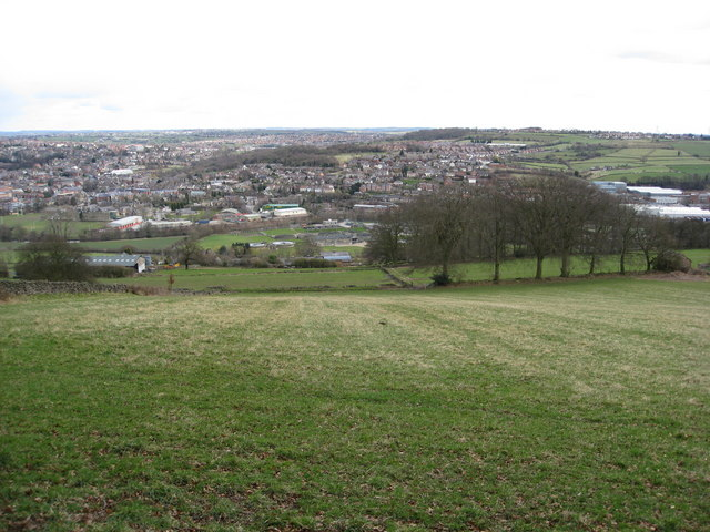 North Lane View - Looking down the Hillside