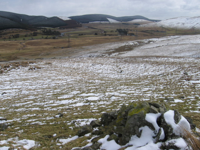 Hillside Cairn near Harry Burn