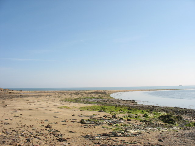 Sandy spit on the north side of Dulas Bay
