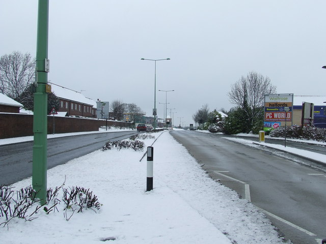 Snow covered Parkway