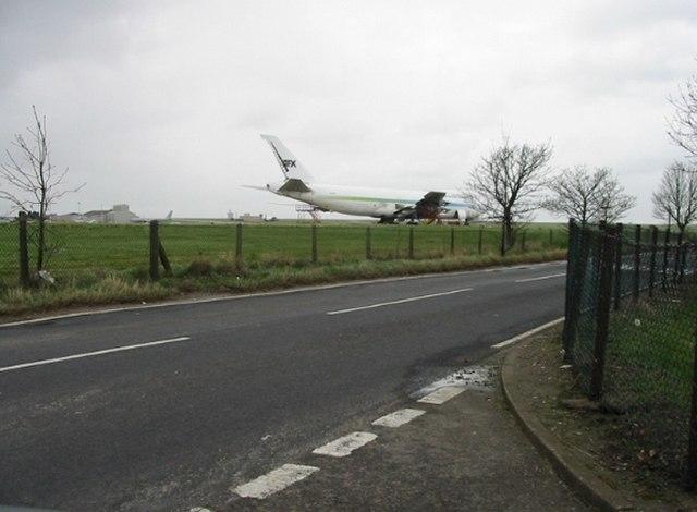 Aeroplane at Kent International Airport, Manston Road