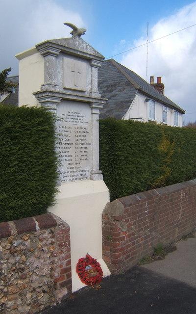 First World War memorial, Fordham