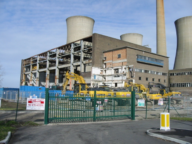 Demolition of Richborough power station