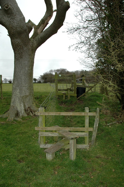 Double stile Gilbert Street and Old Down Wood