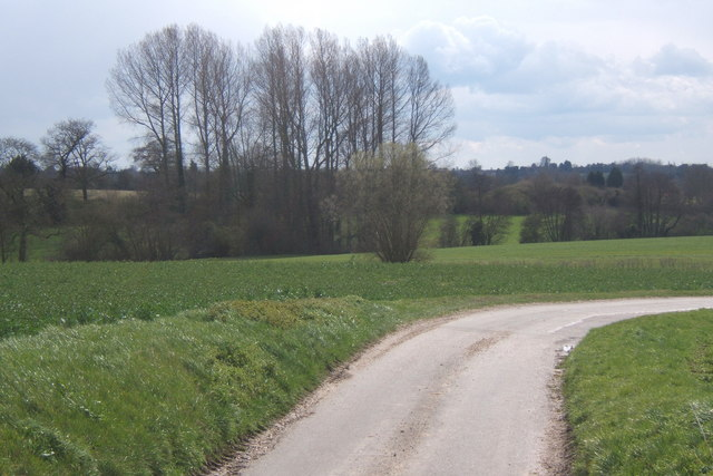 View over the fields from a corner of Penlan Hall Lane