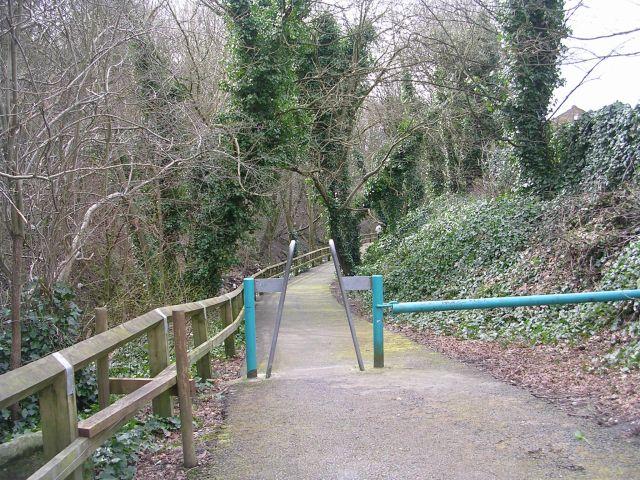 Path alongside Hebble Brook - Bottoms