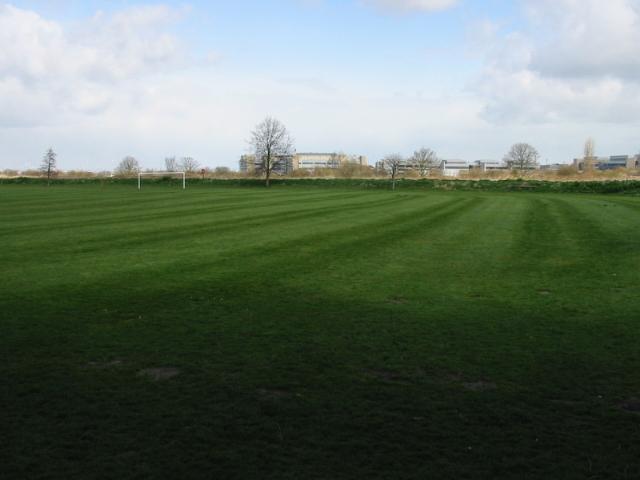 Playing fields near Gazen Salts, Sandwich