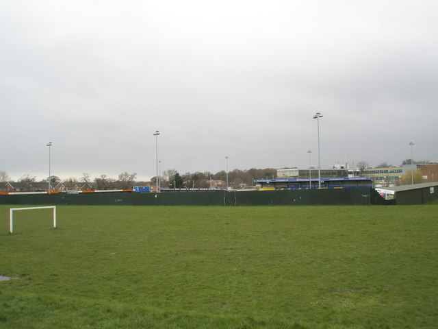 Football pitch outside Havant and Waterlooville F.C.