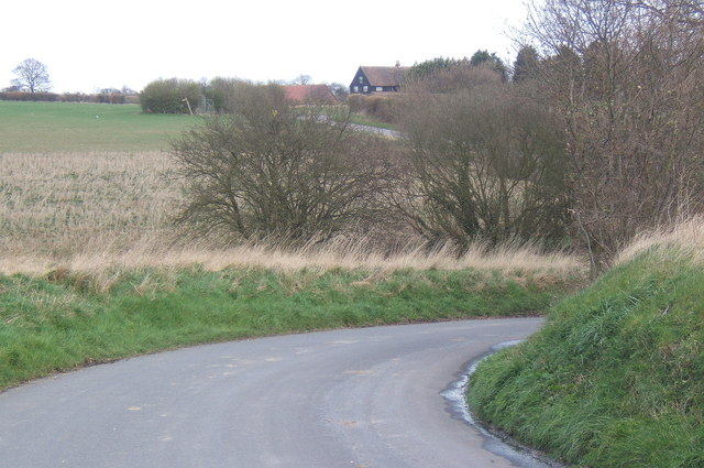 View northeast, twisty section of Chappel Road