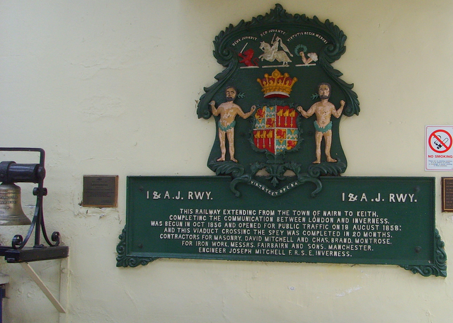 Commemorative plaque inside Inverness railway station