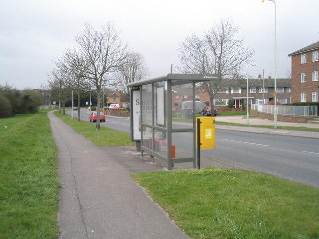Bus stop opposite Moorgreen Road