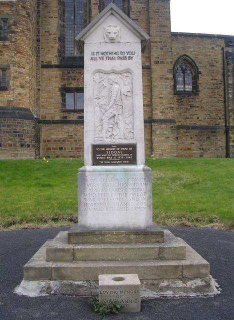 War Memorial - St Mark's Church - Whitegate Road, Siddal