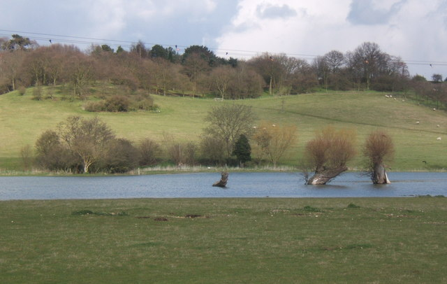 Flooded fields on the River Brett, just west of Higham