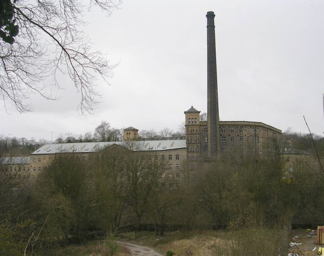 Shaw Lodge Mill - viewed from Siddal New Road