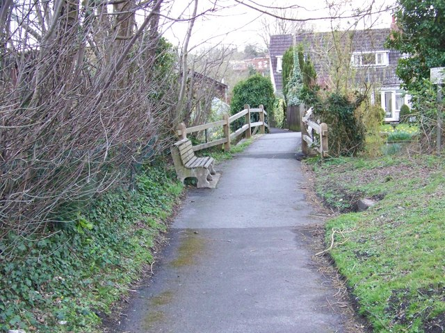 Footpath and bridge over River Ebble, Coombe Bissett
