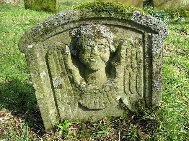 Symbolic headstone at Unthank