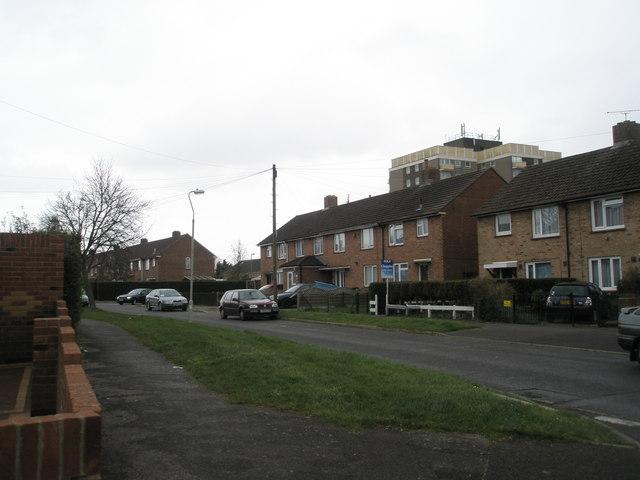 Tall flats behind Lockerley Road