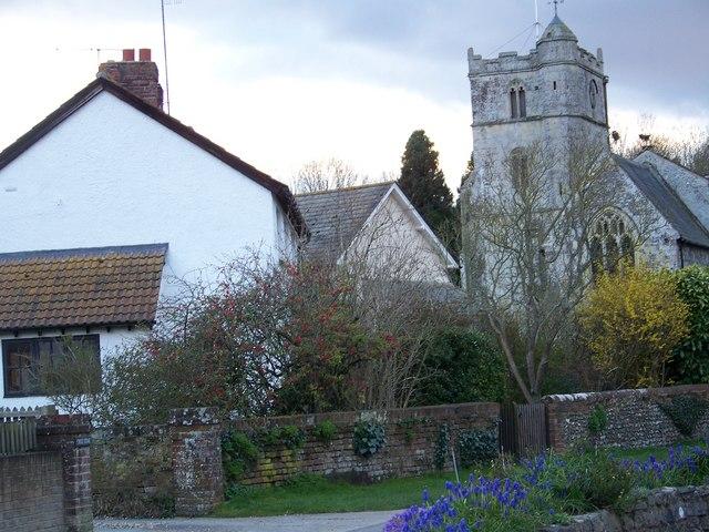 Village Scene, Coombe Bissett
