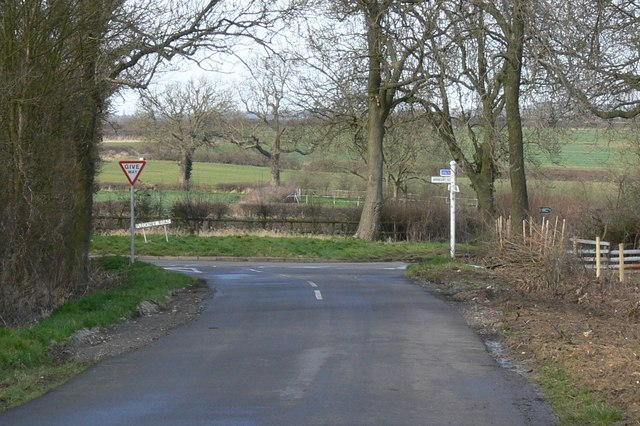 Road junction near Fleckney