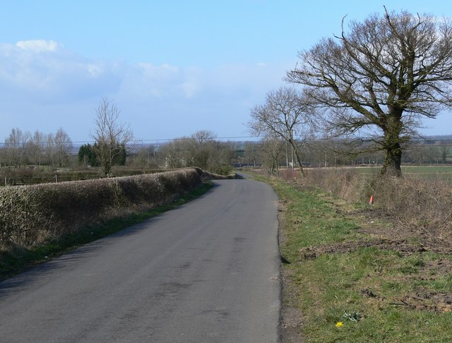 Country lane to Fleckney